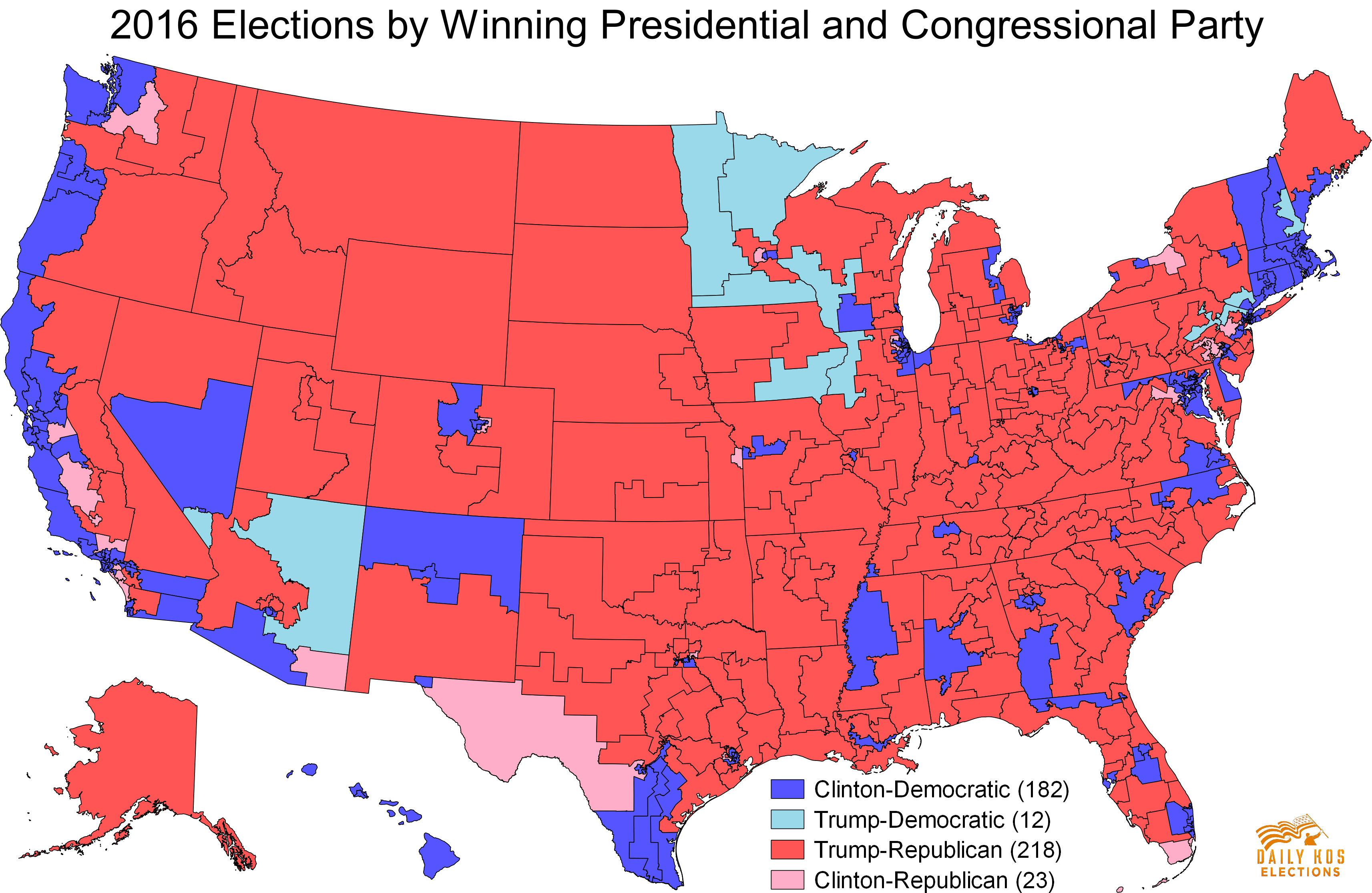 Daily Kos Elections Presents The Presidential Election - Map of us election results