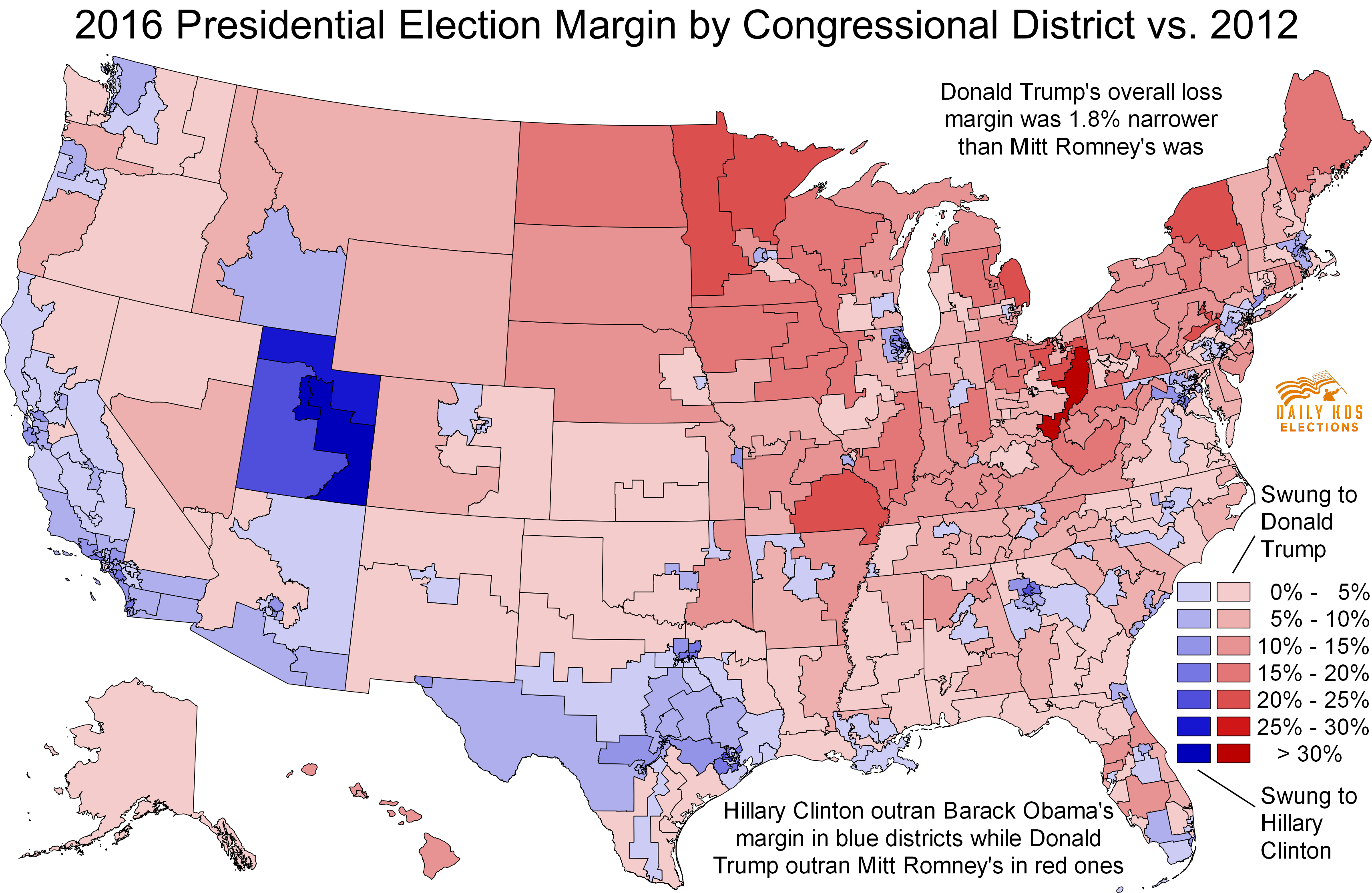 Daily Kos Elections Presents The Presidential Election - Us election results map change by age