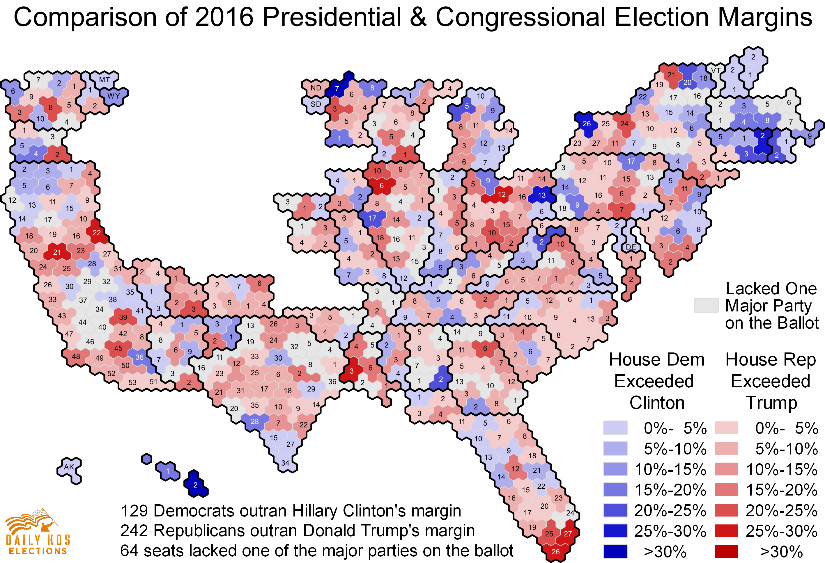 Check out our maps and analysis comparing 2016s presidential and