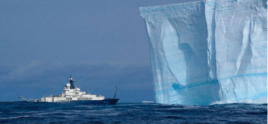 A NOAA crew on the R/V Roger Revelle came nose-to-nose with an iceberg floating in the the Southern Ocean near Antarctica in February of 2008. Scientists at the federal agency have helped document impacts of climate change in the world's polar regions, but some NOAA employees fear such research could be upended under President Donald Trump.