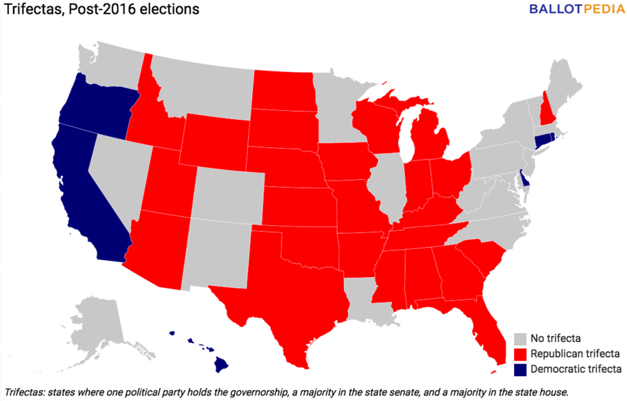 Democrats Control The Government In Just Six States Dont Let - Democrat republican map