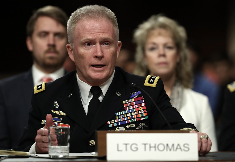 WASHINGTON, DC - MARCH 09:  U.S Army Lt. Gen. Raymond Thomas III, nominee to be the next general and commander of the U.S. Special Operations Command, testifies before the Senate Armed Services Committee March 9, 2016 in Washington, DC. The committee heard testimony from Thomas on his nomination.  (Photo by Win McNamee/Getty Images)