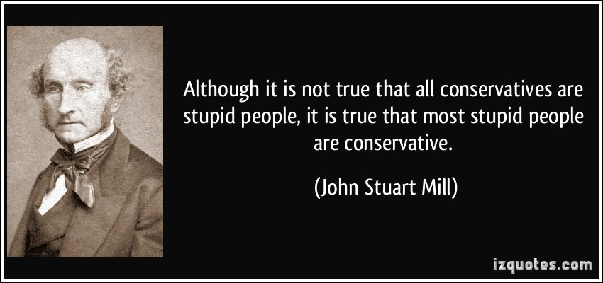 Image result for john stuart mill's stupid people