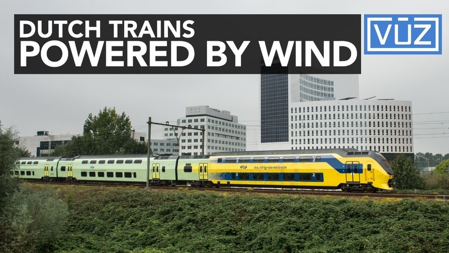 Electric Trains in the Netherlands run on 100% wind power