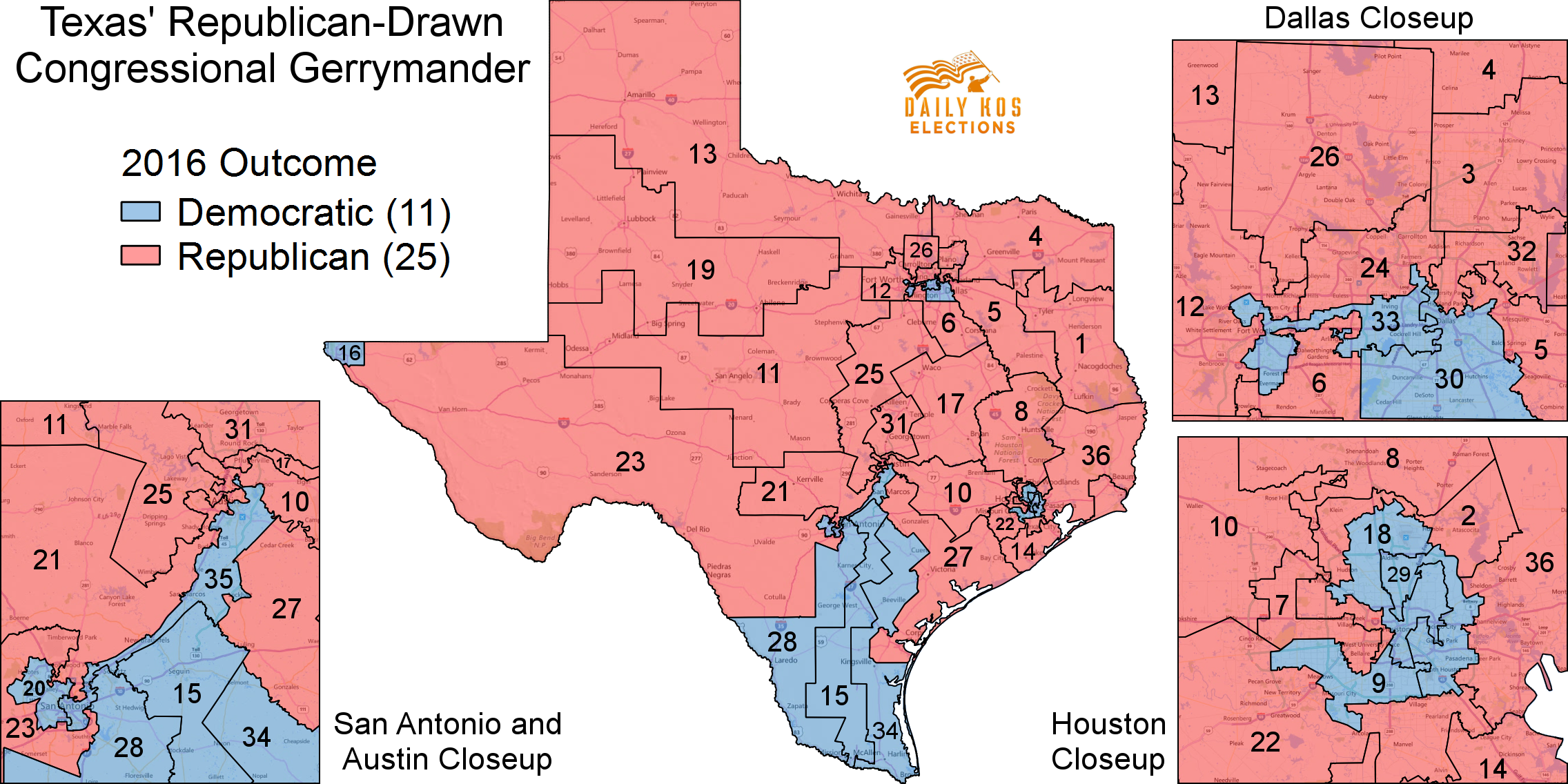 Image result for Texas gerrymandered maps