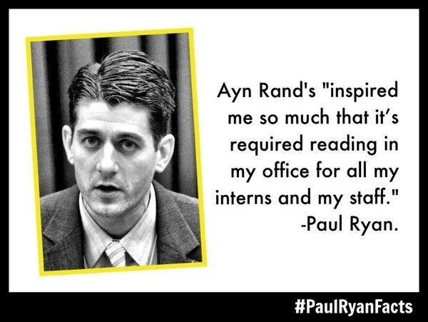Image result for paul ryan ayn rand