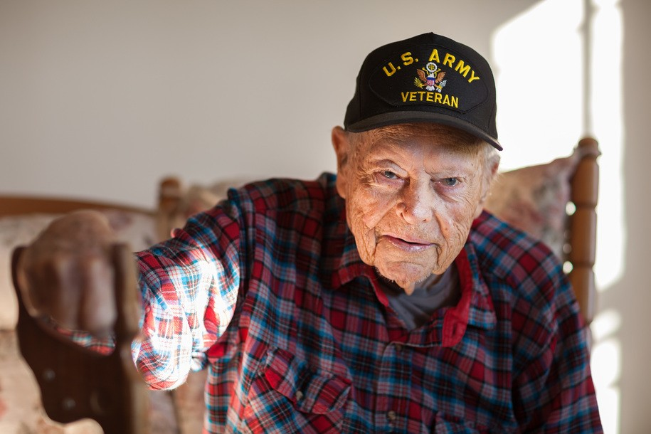 A veteran who uses Meals on Wheels