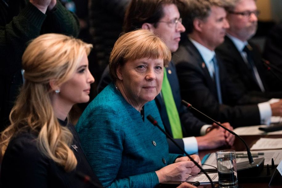 story ivanka trump booed audience women germany after claiming champions issues