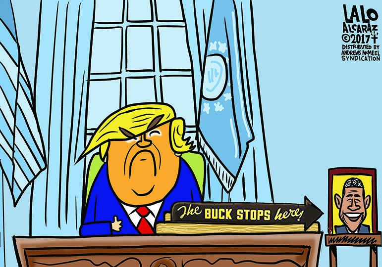 Cartoon: The buck stops heeeeeeere