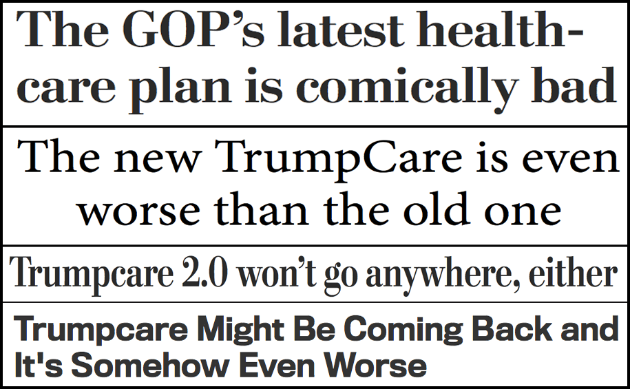 photo image Abbreviated pundit roundup: Trumpcare 2.0 is a disaster