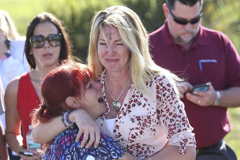 14 reported victims after a mass shooting at a Parkland, Florida, high school