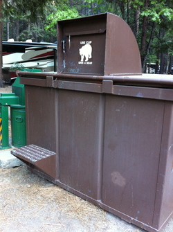 All Yosemite trash must be placed in bear-proof receptacles.