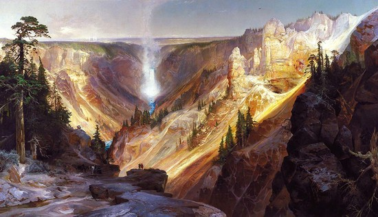1872 oil on canvas by Thomas Moran - Grand Canyon of the Yellowstone.