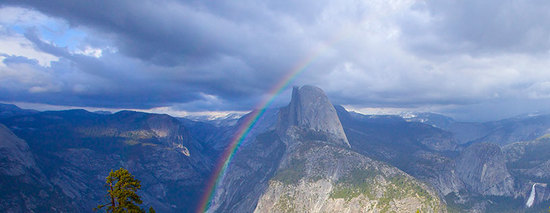 Panorama of Yosemite Valley from Glacier Point
