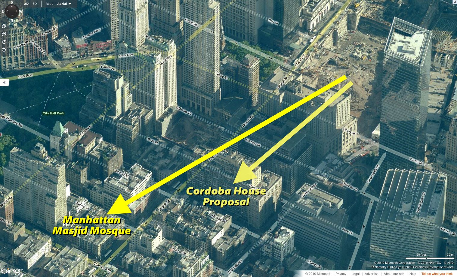 mosque near ground zero If a mosque is built at the proposed site, then the ahmadiyya muslim community would like to see churches, synagogues, hindu places of worship and places of worship of all other religions also built near ground zero.