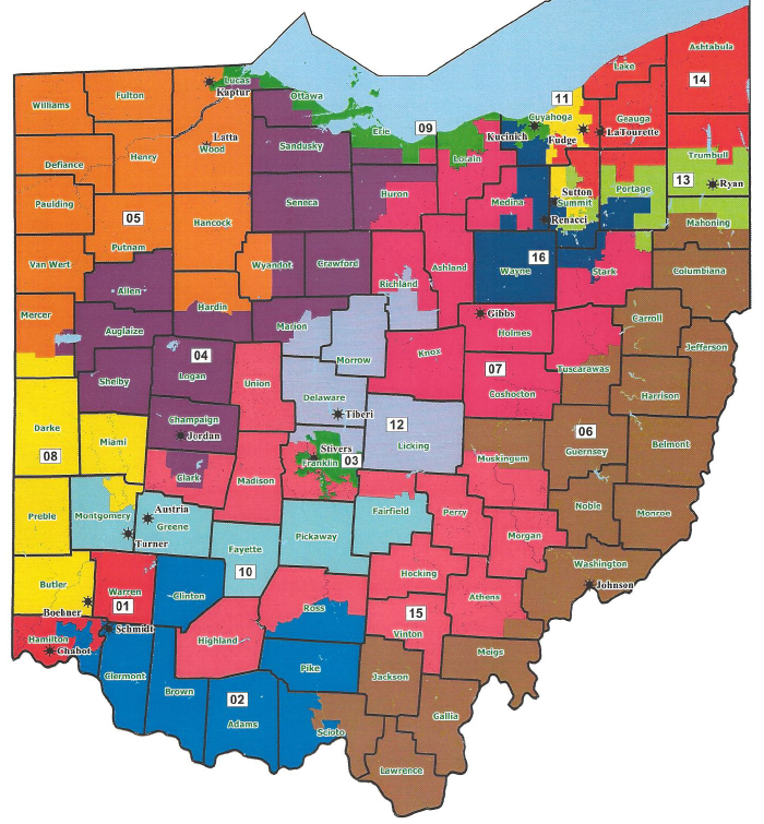 Geography Map Of Ohio.Check District 9 On This Map Of Ohio Open Geography