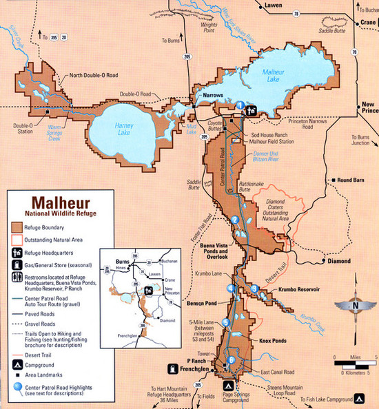 The Malheur National Wildlife Refuge