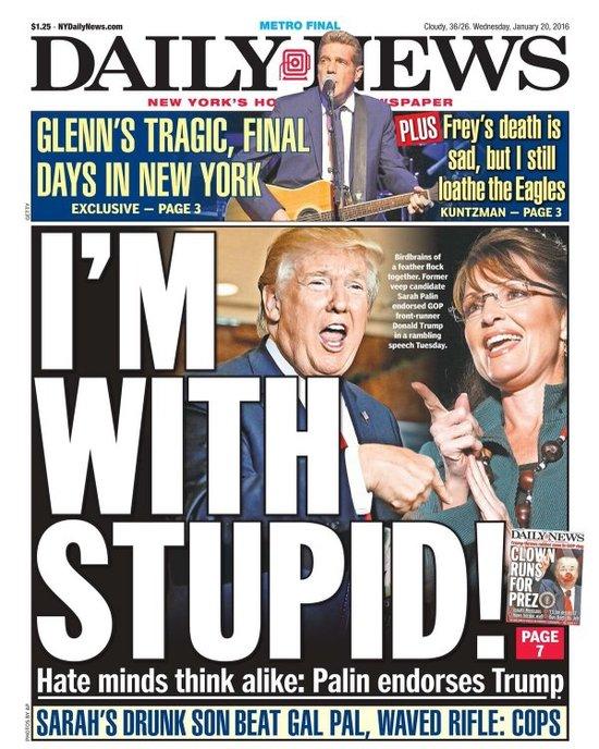 Was tRump's using Sarah Palin a bridge to nowhere too far in Iowa