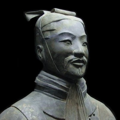 Statue in China representing General Sun Tzu (Sunzi), traditionally supposed to be the author of The Art of War.