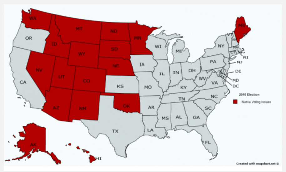 Map Of America Voting.Arizona S Primary Mess No Surprise To American Indians Familiar With