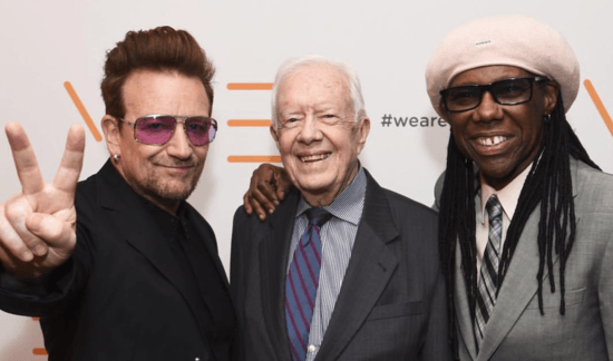 Bono and Jimmy Carter honored as Nile Rodgers celebrates peace via 'We Are Family Foundation'