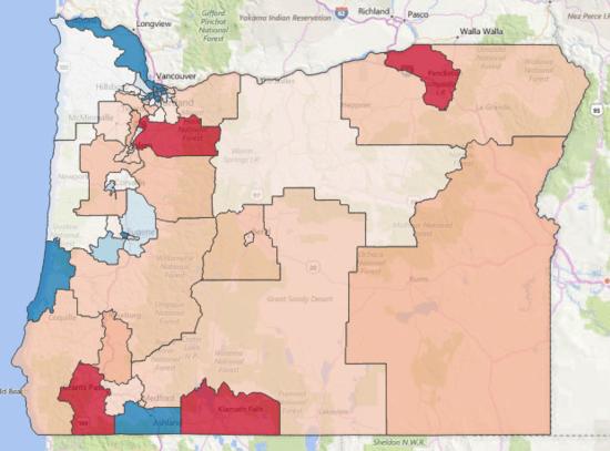 oregon state legislature district map How Democrats Retook The Oregon Legislature oregon state legislature district map