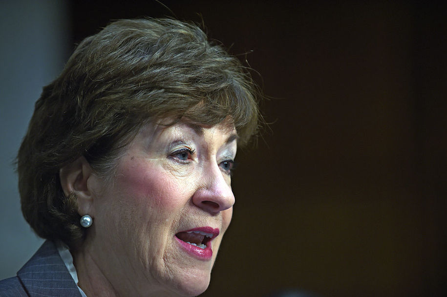 Conservative groups rallying to protect their investment in Kavanaugh and Collins dutifully helps