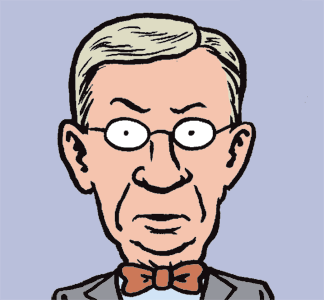 Cartoon by Jen Sorensen -- George Will's bowtie rebellion