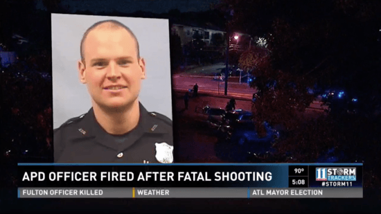 Atlanta cop opens fire on car, kills driver without even
