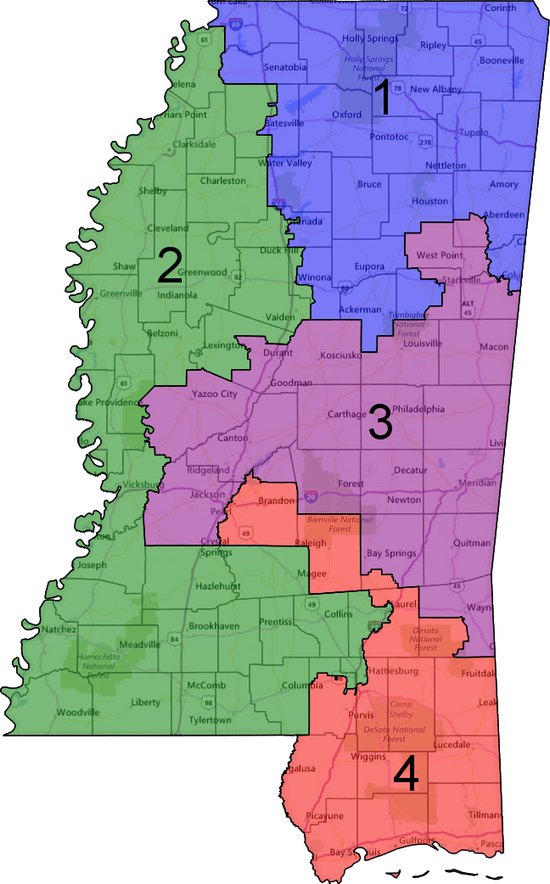 Nearly Every Southern State Could Have Drawn Another Congressional - Ms district 1 us congressional map