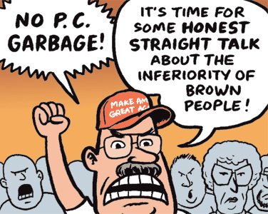 Cartoon by Jen Sorensen -- On political correctness