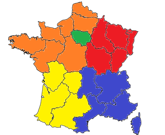Map Of South Of France Regions.French Political Geography Part 4 The South