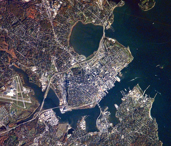 Portland, Maine from above