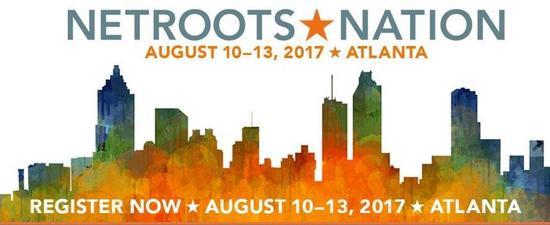 Logo for Netroots Nation 2017, August 10-13 in Atlanta GA