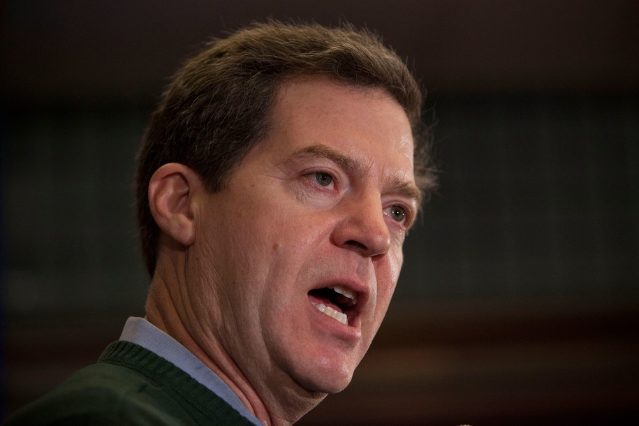 Perry Ia January 02 Kansas Governor Sam Brownback Gives A Sch Supporting Texas