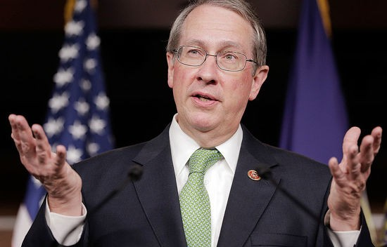 WASHINGTON, DC - MAY 22:  Rep. Robert Goodlatte (R-VA), chairman of the House Judiciary Committee, speaks about the house's passage of the USA Freedom Act during a press conference at the Capitol on May 22, 2014 in Washington, DC. The act would increase Congress's oversight of intelligence-gathering programs and prohibit the bulk collection of data.  (Photo by T.J. Kirkpatrick/Getty Images)
