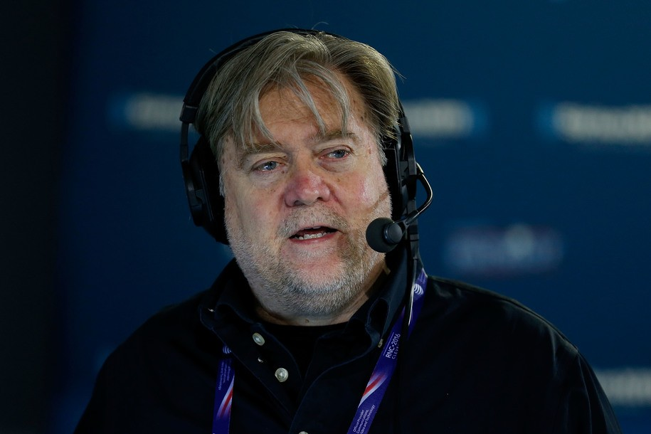 Image result for bannon talking