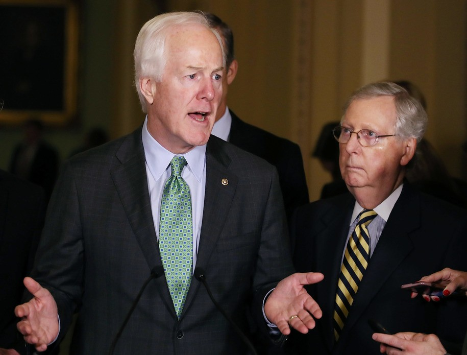 GOP Senate leader John Cornyn inadevertently reveals the entire story on GOP health care policy