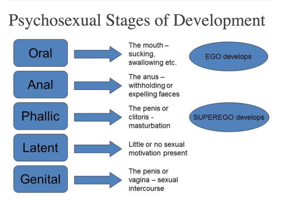 Psychosexual stages proposed by freud