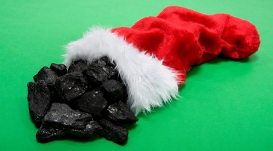 Lump Of Coal For Christmas.Senate Democrats Deliver Trump His Christmas Lump Of Coal