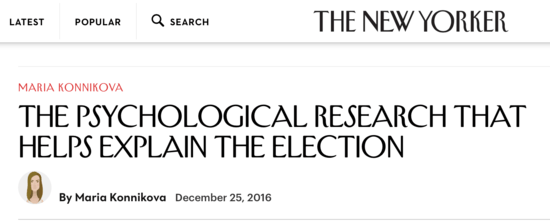 Konnikova Open Office On Kos122716apng Making Scientific Sense Of How Trump Won New Yorker Psychology