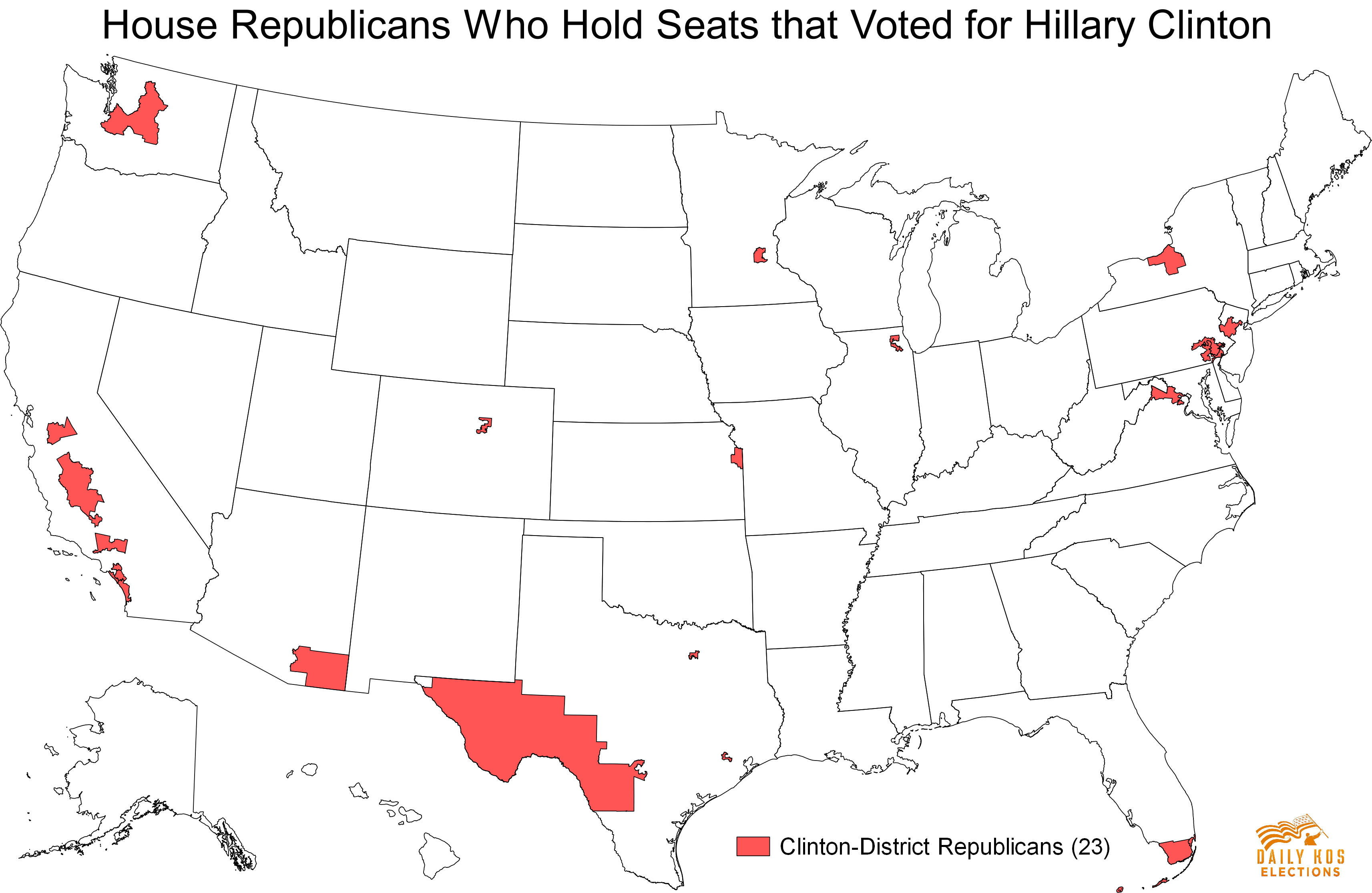 These 23 Republicans hold congressional districts that voted for