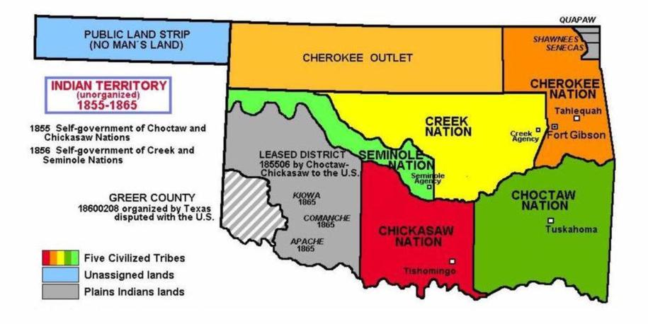 Trail Of Tears Oklahoma Map.Indian Territory All Tribes Experienced Their Trail Of Tears