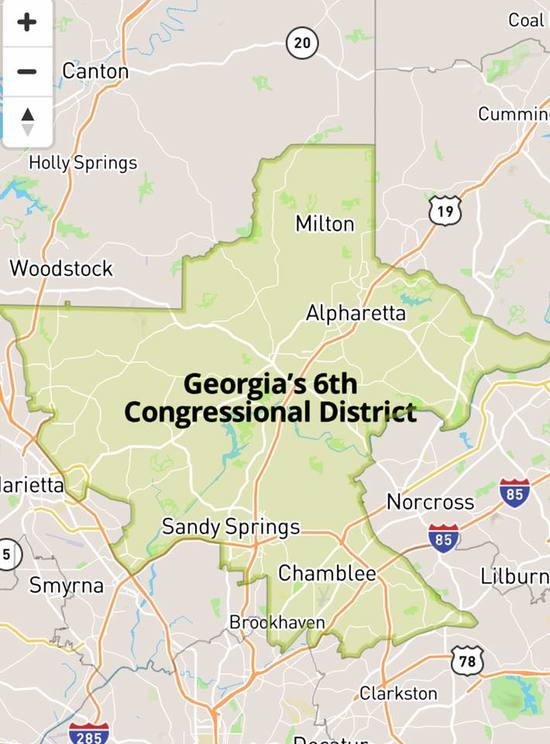 Map Of Georgia 6th Congressional.A Plea From Ga 6