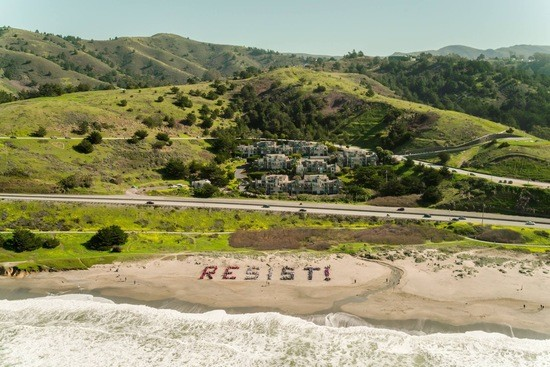 Resist Beach Protest San Francisco And Pacifica