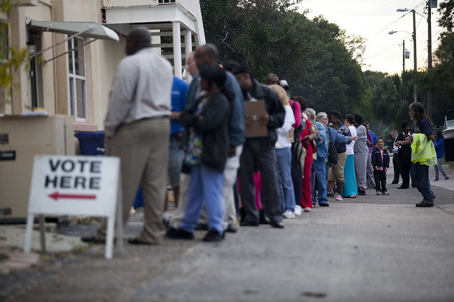 Long lines at polling places is a voting rights violation: It's ...