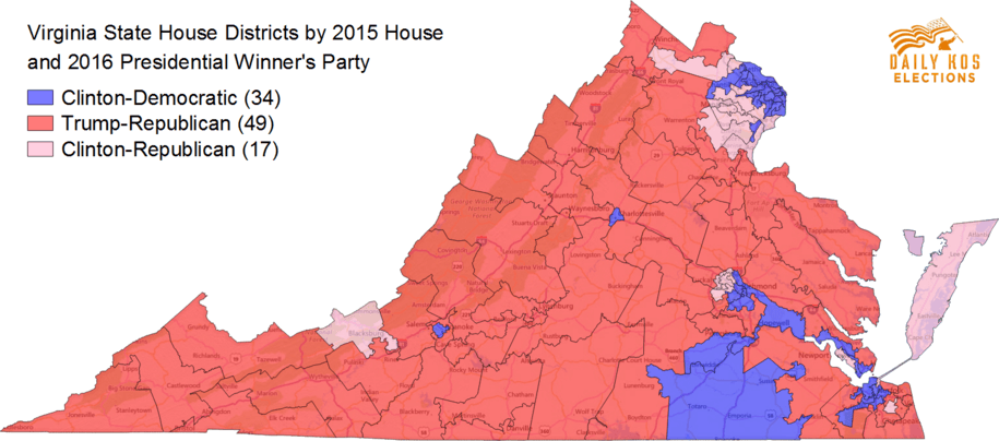 Morning Digest Hillary Clinton Won A Majority Of Virginias State - Us 2016 Election Map District