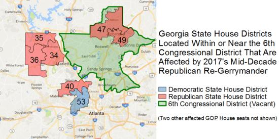 Spooked Georgia Gop Re Gerrymanders Atlanta Suburbs Revealing