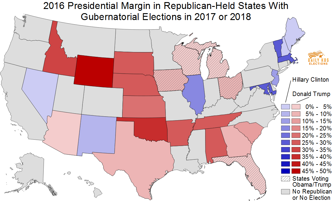 Republicans Could See Catastrophic Losses In S Gubernatorial - Us governor map 1984