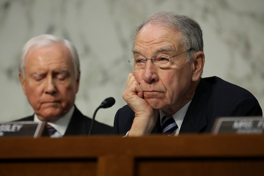 Grassley opens the vote by describing a hearing that never happened